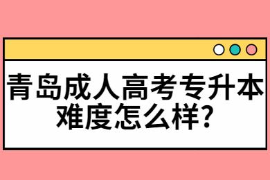 青岛成人高考专升本难度怎么样