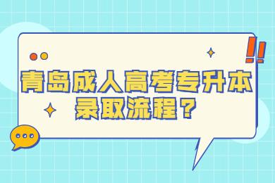 青岛成人高考专升本录取流程